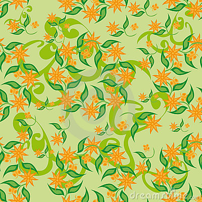 Abstract pattern with flowers