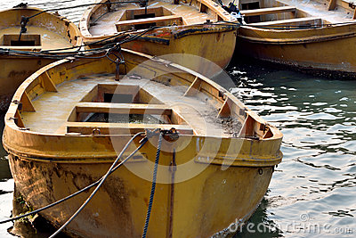 Abstract pattern formed by old boats