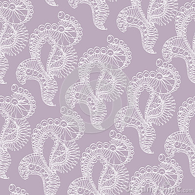 Abstract pattern with lace stylized objects Stock Photo