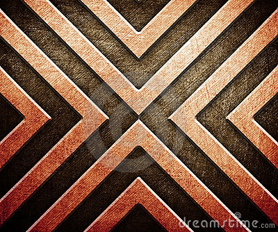 Abstract pattern on metal background