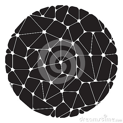 Free Abstract Pattern Of Black Geometric Elements Grouped In A Circle Stock Photo - 72859560