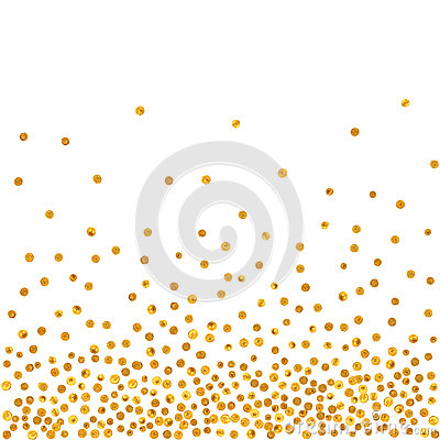 Free Abstract Pattern Of Random Falling Golden Dots Royalty Free Stock Photo - 63320825