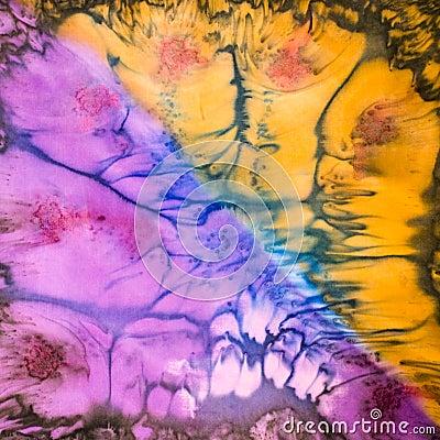 Abstract pattern on silk