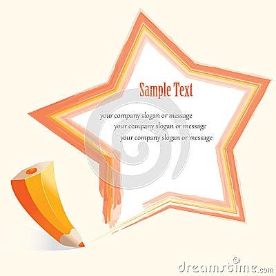 Abstract pencil Star