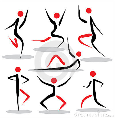 Abstract people poses