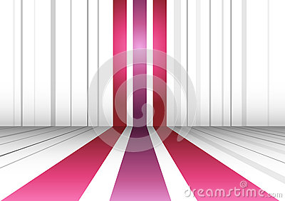 Abstract perspective background with three lines