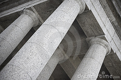 Abstract photo of doric temple columns