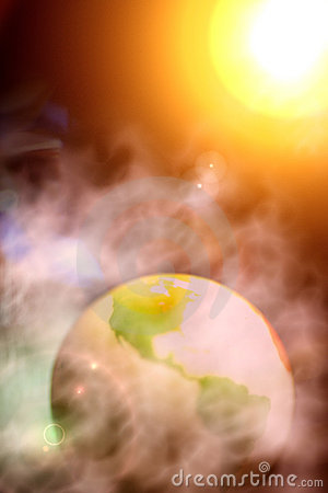 Free Abstract Photo Of Surreal Earth And Solar System Royalty Free Stock Image - 550576