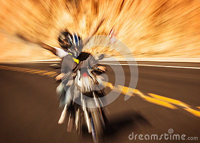 Abstract photo of riders