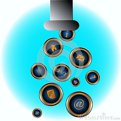 Abstract picture web icon