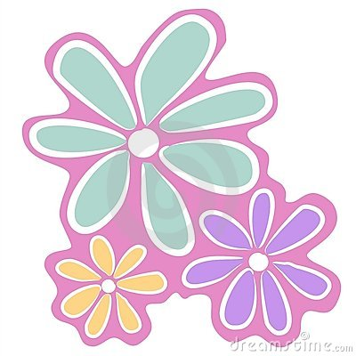 Abstract Pink Flowers Clip Art Royalty Free Stock Photo ...