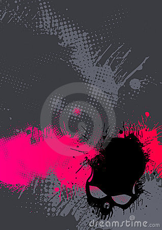 Abstract pink and gray poster