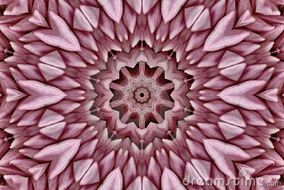 Abstract Pink Kaleidoscope