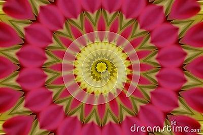Abstract pink kaleidoscope
