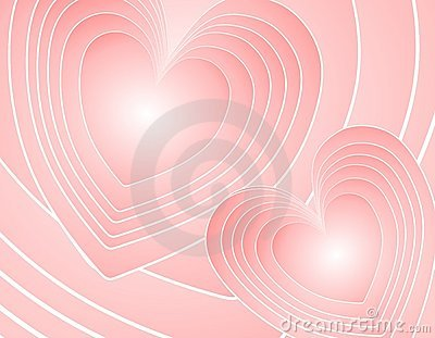 Abstract Pink Retro Hearts Background