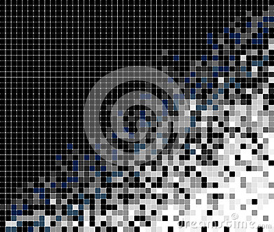 Abstract pixel mosaic background illustration