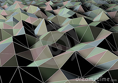 Abstract polygon landscape