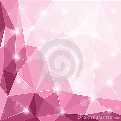 Free Abstract Polygonal Geometric Facet Shiny Pink Background Illustration Royalty Free Stock Image - 65315786