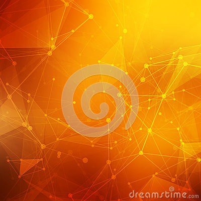 Free Abstract Polygonal Orange Red Low Poly Background Royalty Free Stock Image - 54052456