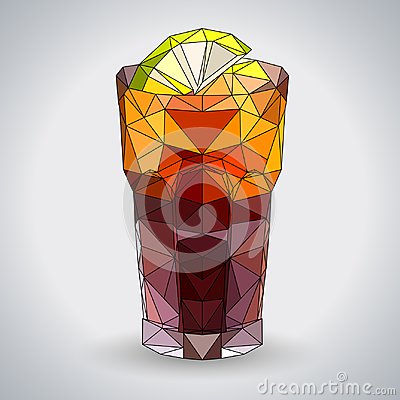 Free Abstract Polygonal Tirangle Cocktail Long Island. Royalty Free Stock Photos - 113850178