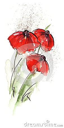 Free Abstract Poppy Royalty Free Stock Photos - 5950158