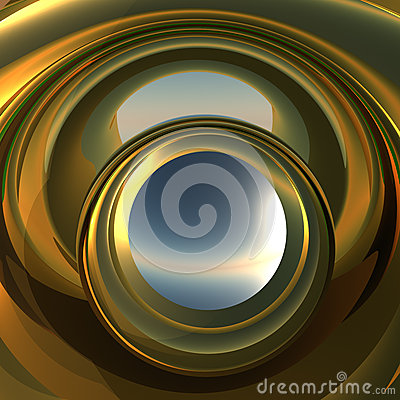 Abstract Portal to Future