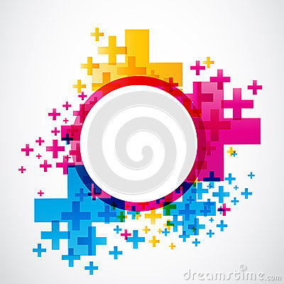Abstract positive futuristic design