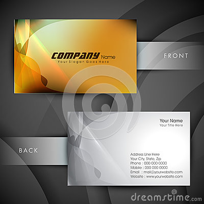 Abstract professional and designer business card