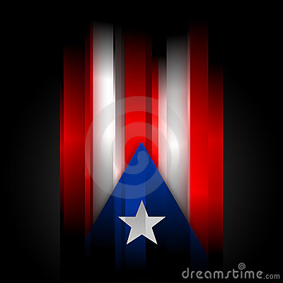 Abstract Puerto Rico Flag On Black Background Stock Photo ...