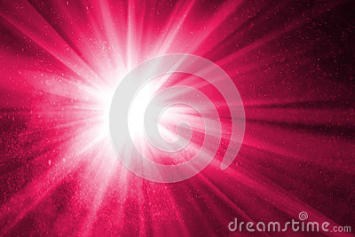 Abstract purple background with rays