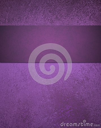 Abstract purple background with ribbon stripe