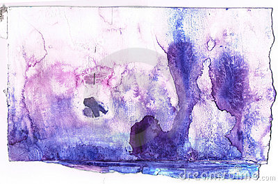 Abstract purple and blue watercolor background.