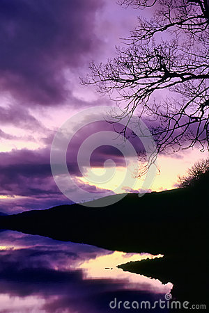 Abstract purple loch background