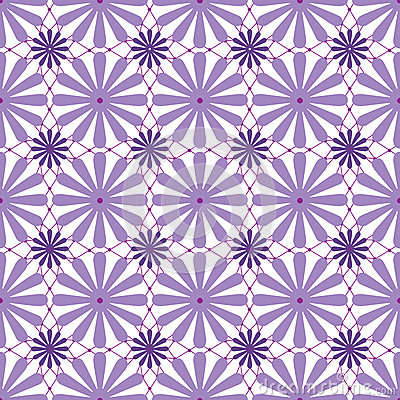 Abstract purple ornament seamless pattern on white Stock Photo