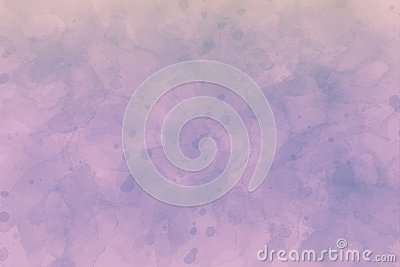 Abstract purple spotted background in watercolors. Stock Photo