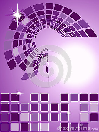 Abstract purple squared background