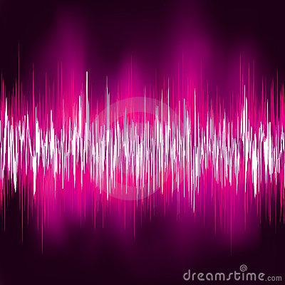 Abstract purple waveform. EPS 8