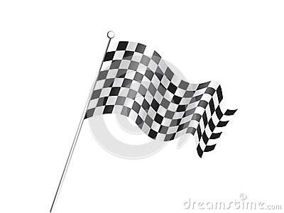 Abstract race flag concept