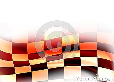 Abstract racing flag
