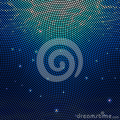 Free Abstract Radial Colorful Dotted Vector Underwater Background. Halftone Effect Royalty Free Stock Photography - 67599527