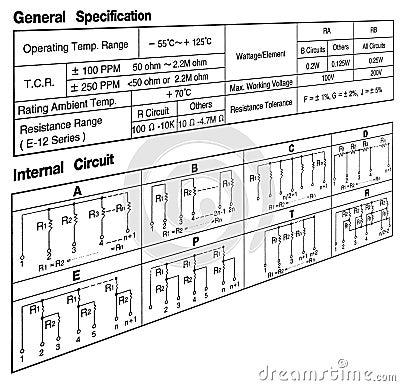 abstract radio electronic circuit scheme