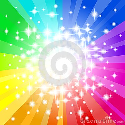 Free Abstract Rainbow Colored Star Background Royalty Free Stock Photography - 33024787