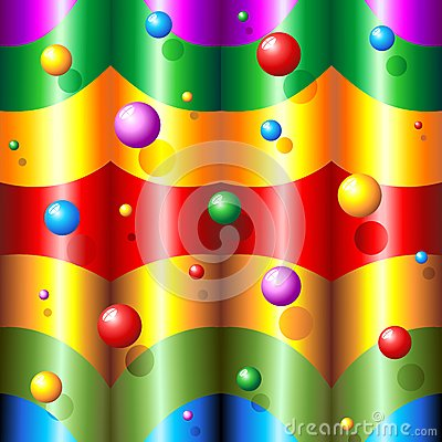 Abstract Rainbow Colors and Bubbles Pattern