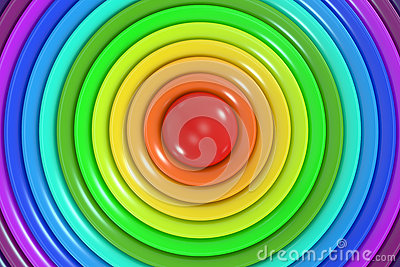 Abstract rainbow colors circle background