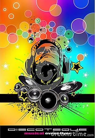 Free Abstract Rainbow Disco Flyer Stock Photography - 15206622