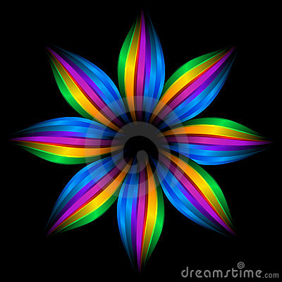 Abstract rainbow flower