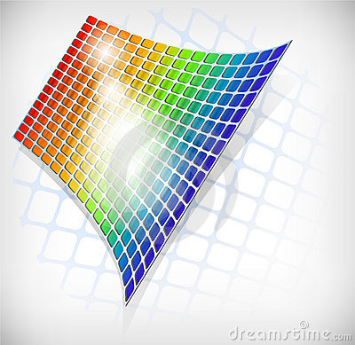 Abstract rainbow grid