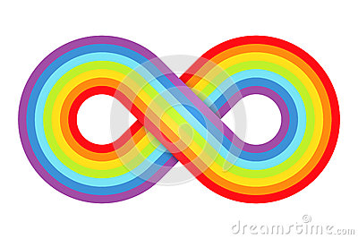 Abstract rainbow infinity