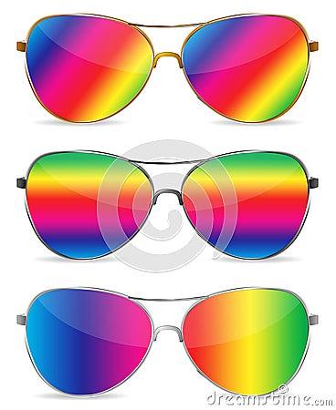Abstract rainbow sunglasses
