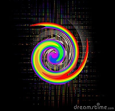 Free Abstract Rainbow Swirl Royalty Free Stock Photography - 10302687